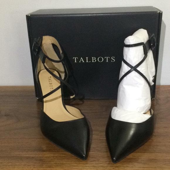 2126dcd416a Talbots Black Erica 75 Cross Strap